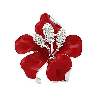 moda de luxo flor rosa broches mulheres broche de casamento presente
