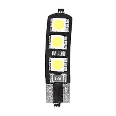 10pcs t10 6smd 5050 carro canbus levou lâmpada de cauda do carro luz lado estacionamento Mapa da Porta de cúpula de luz (DC12V)