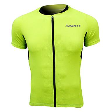 SPAKCT Homme Manches Courtes Maillot de Cyclisme Vélo Séchage rapide, Respirable