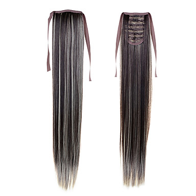 שיער סינטטי הַאֲרָכַת שֵׂעָר ישר קלאסי יומי איכות גבוהה קוקו