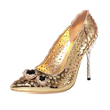 Femme Chaussures Microfibre Printemps Eté Automne Gladiateur Talon Aiguille Boucle Pour Habillé Soirée & Evénement Doré