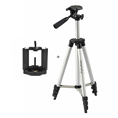 ismartdigi i-3110 + חצובת מצלמה עמד 4-סעיף ניידת (כסף + שחור) עבור כל dv.camera ונייד: sony iphone samsung