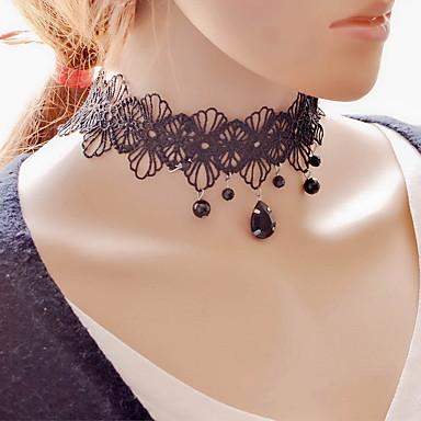 Damen Glasperlen Halsketten / Anhängerketten / Tattoo-Hals - Spitze Tattoo Stil, Modisch Schwarz Modische Halsketten Schmuck Für Party, Alltag, Normal