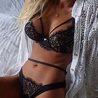 94ede737e3 Women s Lace Sexy Lace Lingerie Nightwear Solid Colored