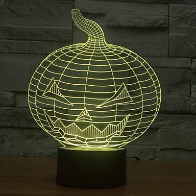 1 Pça. Luz noturna 3D USB Regulável 5 V