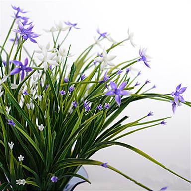 1 1 Ast Polyester / Kunststoff Schleierkraut Boden-Blumen Künstliche Blumen 17.7inch/45cm
