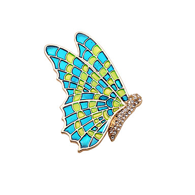 Mujer Broche - Mariposa, Animal Vintage, Moda Broche Verde Para Boda / Fiesta / Diario