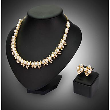 נשים סט תכשיטים שרשרת / עגילים מסיבה אופנתי חתונה Party עגילים שרשראות