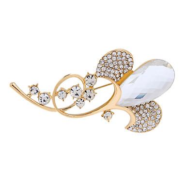 Damen Broschen Imitation Diamant Langlebig Modisch Vintage Golden Schmuck Hochzeit Party Alltag Normal