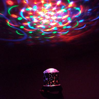 1pc Batterie drehen stochastische Muster Nachtlicht Lampe Haus Projektor Sternenhimmel brillante Nachtlicht-Lampen