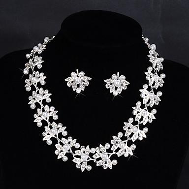 Damen Strass Imitierte Perlen Aleación Hochzeit Party Besondere Anlässe Jahrestag Geburtstag Verlobung Ohrringe Halsketten Modeschmuck