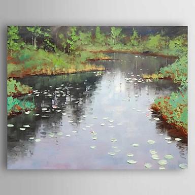 Pintados à mão Paisagem Modern,1 Painel Tela Hang-painted pintura a óleo