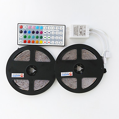 ZDM® 2x5 milhões Conjuntos de Luzes 2*300 LEDs 1 controlador remoto de 44 teclas RGB Cortável / Impermeável / Decorativa 12 V 1conjunto