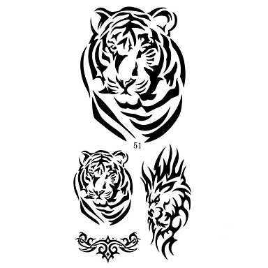 1 Muster Unterer Rückenbereich Waterproof Tier Serie Tattoo Aufkleber