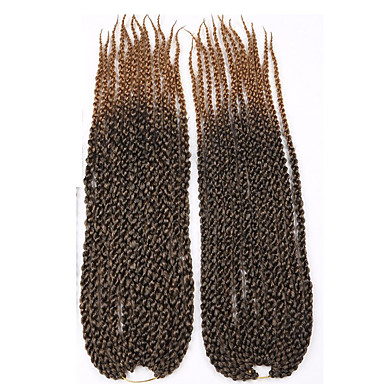 #27 Cubic Twist Twist Braids Hårforlengelse 22 inch Kanekalon 12 Strand 115-125g/pack gram Hair Braids