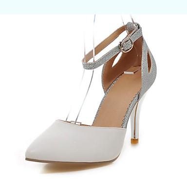 Femme Chaussures Cuir Verni Paillette Printemps Eté Automne Hiver Talon Aiguille Paillette Brillante Boucle Creuse Pour Mariage Habillé