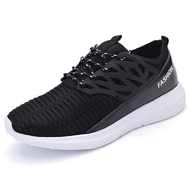 Femme-Décontracté-Noir / Blanc / Gris / Kaki-Talon Plat-Bout Arrondi-Sneakers-Tulle / Polyuréthane