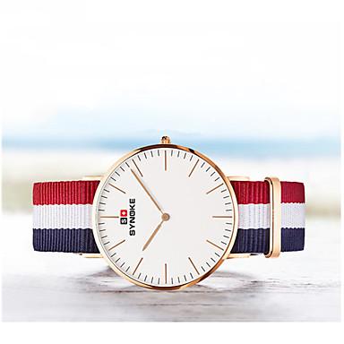 SYNOKE Masculino Relógio de Moda Quartzo Impermeável / Tecido Banda Riscas Cores MúltiplasPreto/Vermelho Preto/Branco Vermelho/Branco