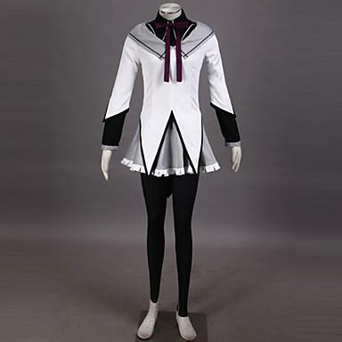 Innoittamana Puella Magi Madoka Magica Homura Akemi Anime Cosplay-asut Cosplay Puvut Patchwork Toppi Hame Housut Rannerengas Rusetti