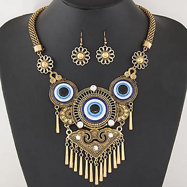 Mulheres Conjunto de jóias - Importante, Borla, Vintage Incluir Colar / Brincos Prata / Dourado Para Festa / Diário / Trabalho / Colares