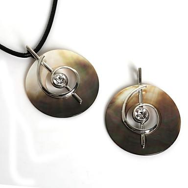 Damen Anhänger Round Shape Zinklegierung Hülle Diamantimitate Modisch Schmuck Für Alltag