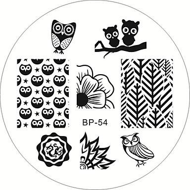 1pcs Nail Stamping Template Daglig Mode Høj kvalitet