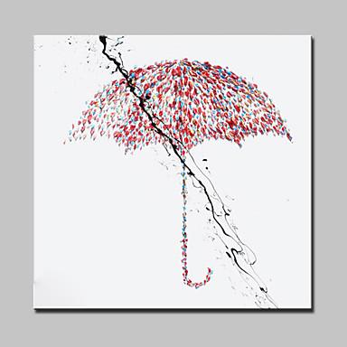 håndmalt lerret olje maleri moderne abstrakt paraply vegg kunst bilde med strukket ramme klar til å henge