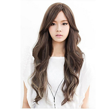 Women's Synthetic Wig Long Loose Wave Curly Natural Wave Black Carnival Wig Costume Wig Halloween Wig Costume Wig