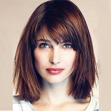 Kvinder Blondeparykker med menneskehår Ekte hår Helblonde Blonde Forside Helblonder uten lim Halvblonder uten lim 130% 150% 180% tetthet