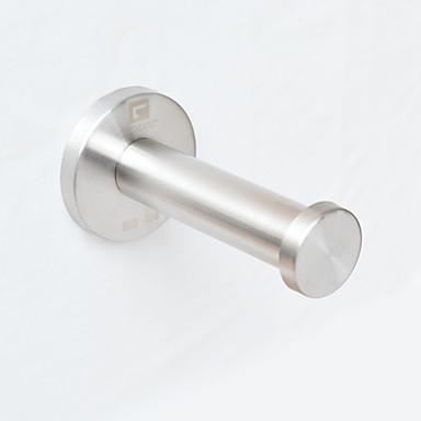 gemasp® aço inoxidável revestimento de gancho único gancho roupas toalha / roupão para a parede banho de estilo cozinha montada,