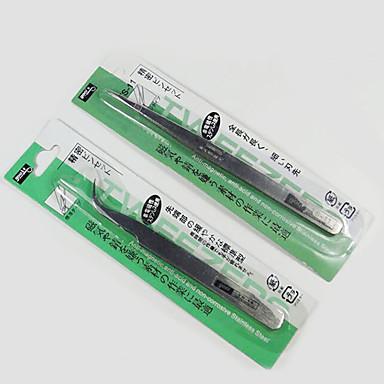 outils à ongles fournit de faux ongles autocollants pâte de diamant de forage au diamant prendre droites pinces en acier inoxydable