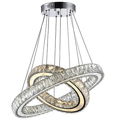 Lysekroner ,  Moderne / Nutidig galvanisert Trekk for Krystall LED MetallStue Soverom Spisestue Kjøkken Leserom/Kontor Barnerom Inngang