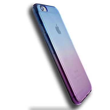 Funda Para Apple iPhone 6 iPhone 6 Plus Transparente Funda Trasera Gradiente de Color Suave TPU para iPhone 6s Plus iPhone 6s iPhone 6