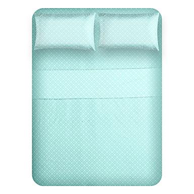 Komfortabel Mikrofiber polyester Lagen Sæt Almindelig Geometrisk Stykfarvet