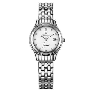 Mulheres Relógio de Moda Quartzo Quartzo Japonês Impermeável Aço Inoxidável Banda Prata Ouro Rose marca Bestdon