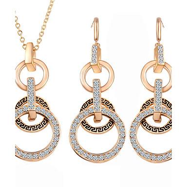 Damen Schmuck Hochzeit Verlobung Aleación Ohrringe Halsketten