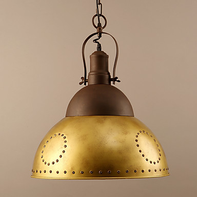 Lampe suspendue ,  Traditionnel/Classique Peintures Fonctionnalité for Style mini MétalSalle de séjour Chambre à coucher Salle à manger