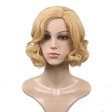 Synthetische Haare Perücken Wellen Kappenlos Kurz Blond