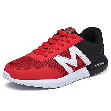 Damen-Flache Schuhe-Lässig-Tüll-Flacher AbsatzSchwarz Blau Rot
