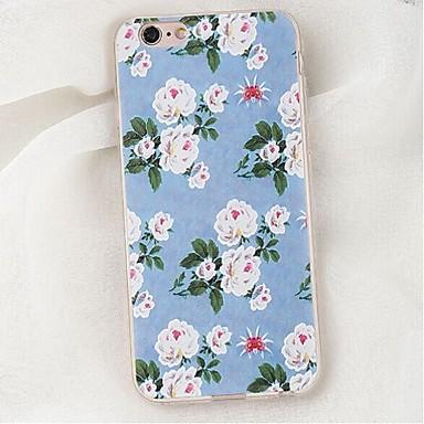 Pour Coque iPhone 6 Coques iPhone 6 Plus Antichoc Coque Coque Arrière Coque Fleur Flexible PUT pour AppleiPhone 6s Plus/6 Plus iPhone