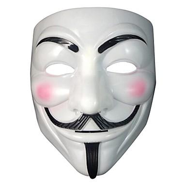 v for vendetta fest cosplay maske maske anonym Guy Fawkes fancy kjole voksen kostyme tilbehør halloween