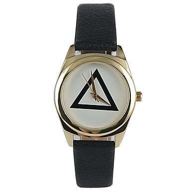 Mulheres Relógio de Moda Quartzo Impermeável PU Banda Casual Preta
