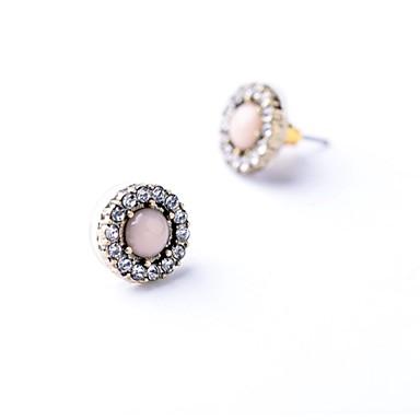 ファッション ボヘミアスタイル 欧風 合金 円形 ピンク ジュエリー のために パーティー 日常 カジュアル 1ペア