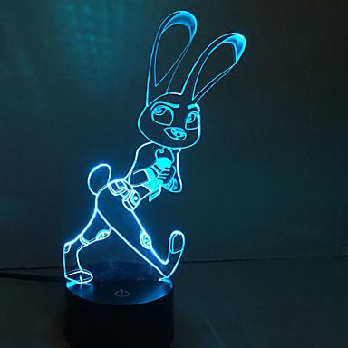 1個のタッチ3 dは、カラフルなビジョンランプギフト雰囲気のデスクランプの変更色の夜の光を主導しました