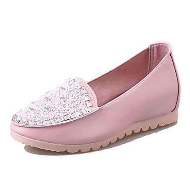 Damen-Loafers & Slip-Ons-Lässig-PU-Flacher Absatz-Komfort-Blau / Rosa / Weiß