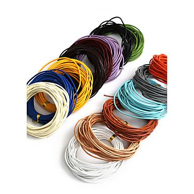 beadia 5mts 1.5mm runde lær ledningen& metalltråd& string (14 farger)