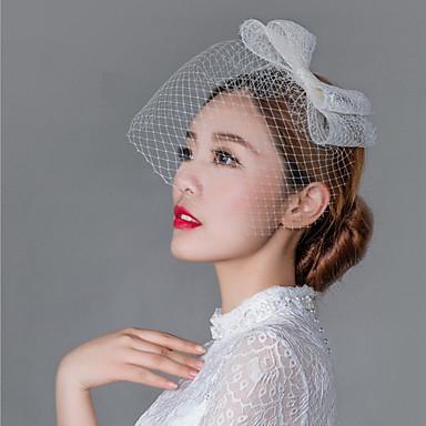 tulle lace net fascinators headpiece estilo feminino clássico