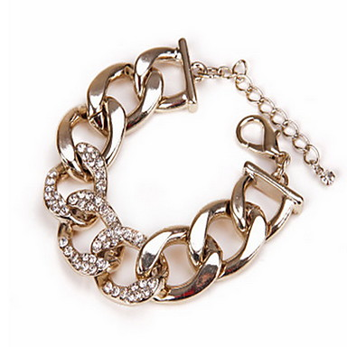 Femme Cœur Chaînes & Bracelets - Mode Cœur LOVE Doré Bracelet Pour Regalos de Navidad