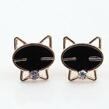 Női Cat Strassz Strassz Beszúrós fülbevalók - Személyre szabott / Divat Fekete Fülbevaló Kompatibilitás Napi / Hétköznapi / Alkalmi