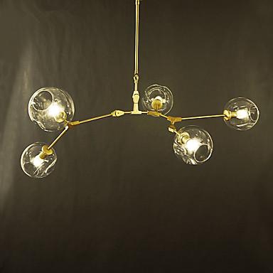 5-luz Lámparas Araña Luz Ambiente Galvanizado Metal Vidrio Los diseñadores 110-120V / 220-240V Bombilla incluida / E26 / E27